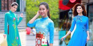 áo dài màu xanh ngọc bích