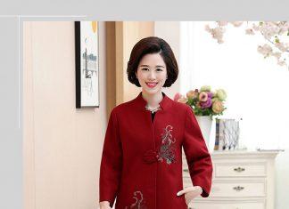 áo khoác phụ nữ lớn tuổi