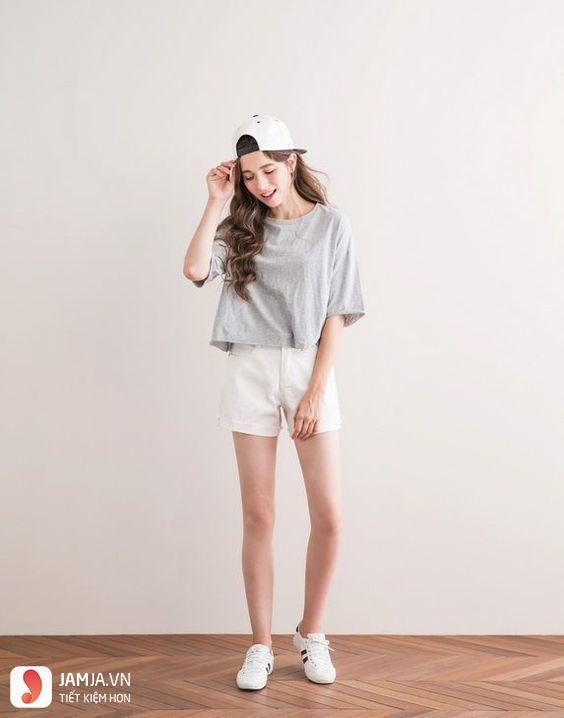 Áo màu xám kết hợp với quần màu gì - 1