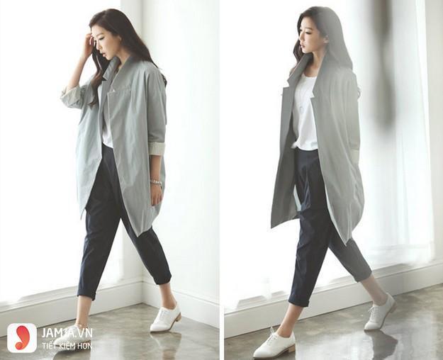 Áo màu xám kết hợp với quần màu gì - 2