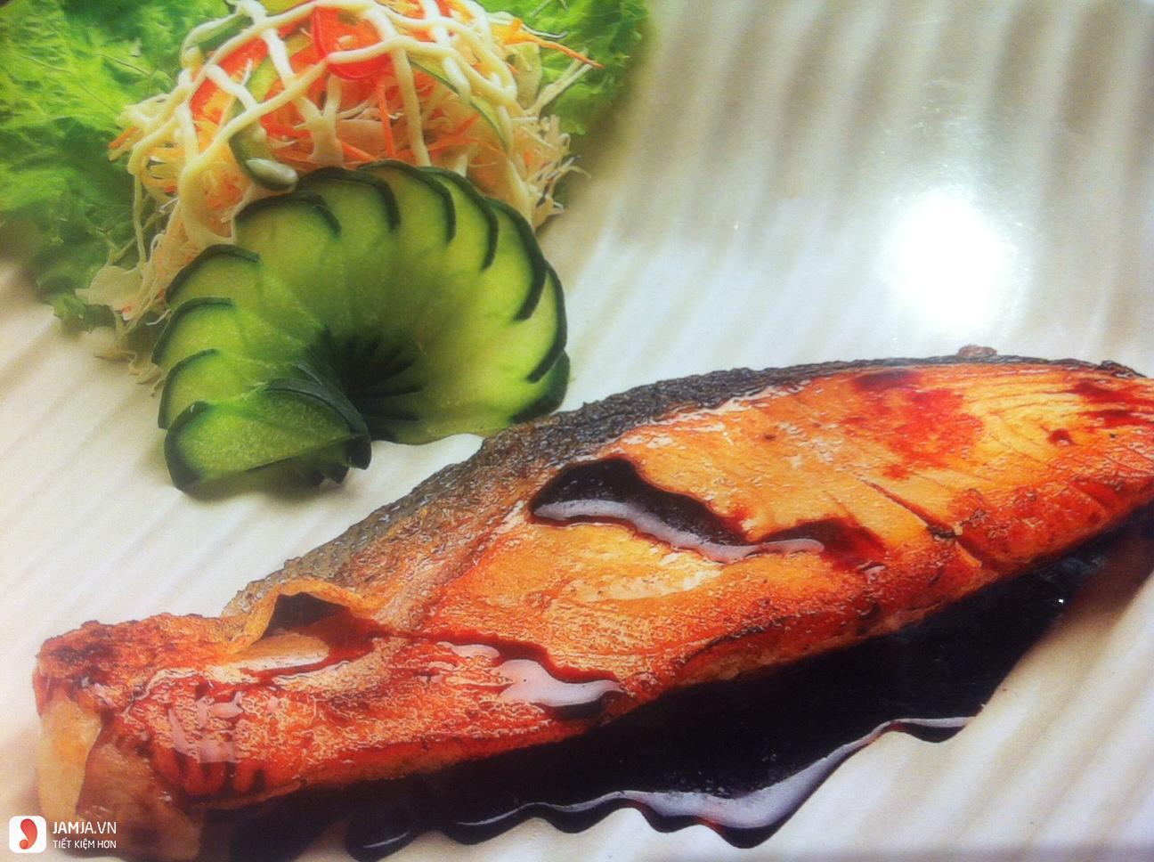 Cá hồi ướp nước sốt cải nướng-2