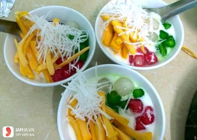 Cách làm sữa chua mít trân châu 8