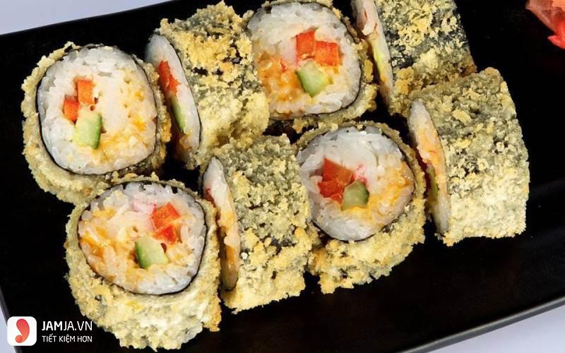 cách làm sushi chiên