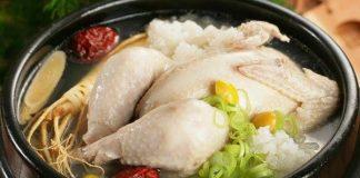 hầm gà bằng nồi cơm điện