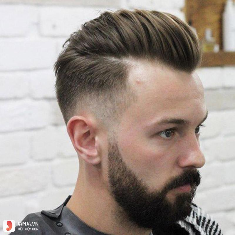 Kiểu tóc Pompadour cho nam mặt mập
