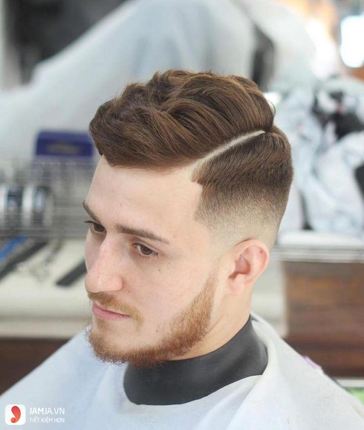 Kiểu tóc Hard part cho nam mặt mập2