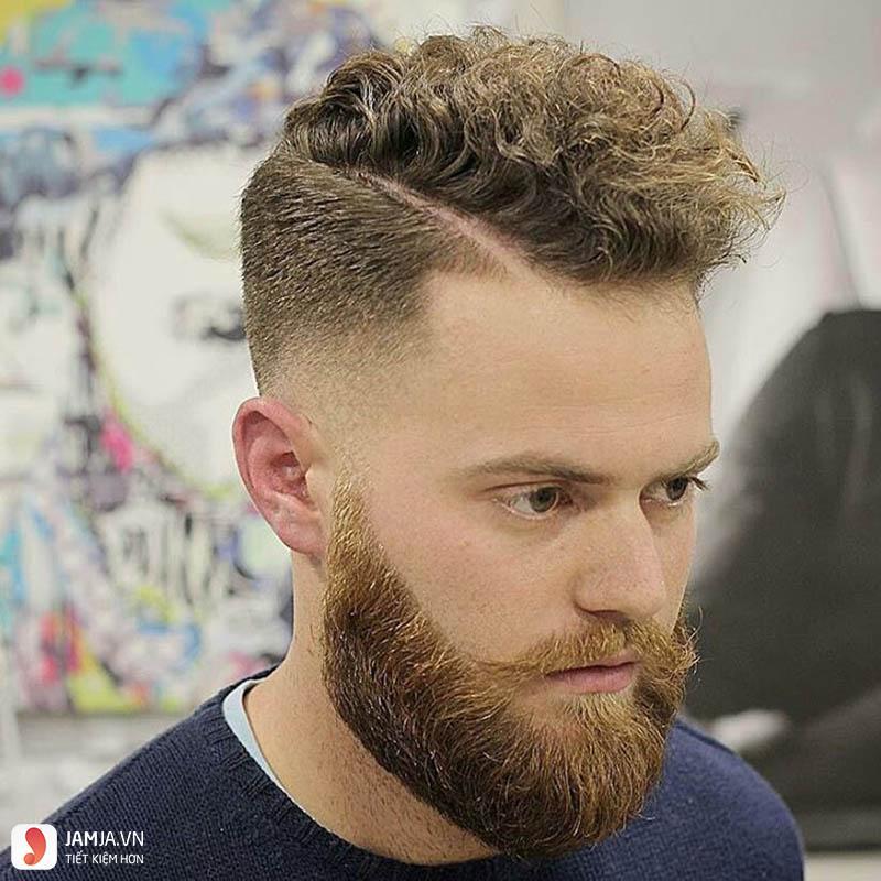 Kiểu tóc Hard part cho nam mặt mập