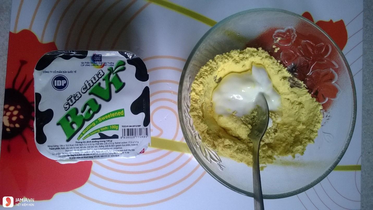 Mặt nạ bột sắn dây kết hợp với sữa chua