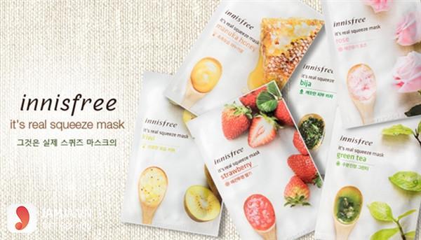 Mặt nạ dưỡng da Hàn Quốc Innisfree It's Real Squeeze Mask