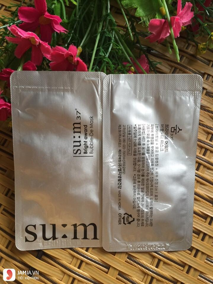 Su:m 37 White Award Bubble-de Mask 4