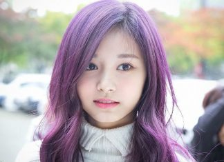 nhuộm tóc màu tím ra nắng mới thấy