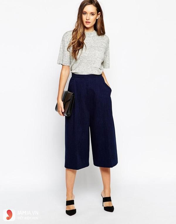 quần culottes cho người gầy 1