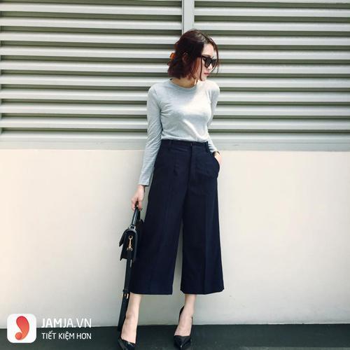 quần culottes hợp với dáng người nào 1
