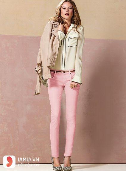 quần màu hồng phấn