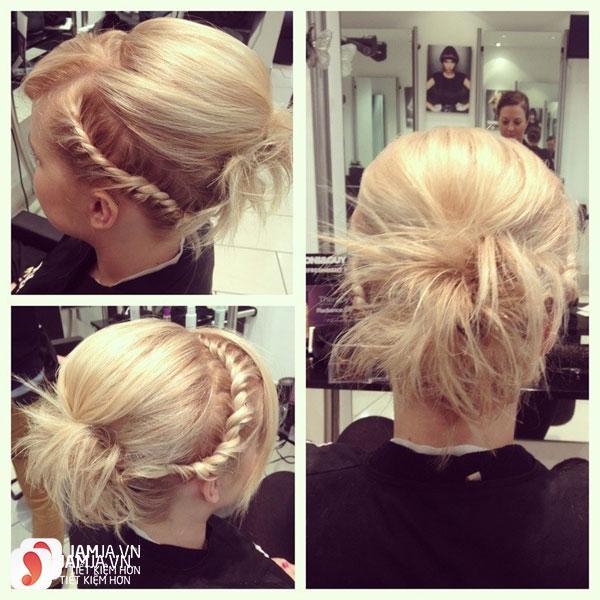 Thắt tóc và buộc tóc cao