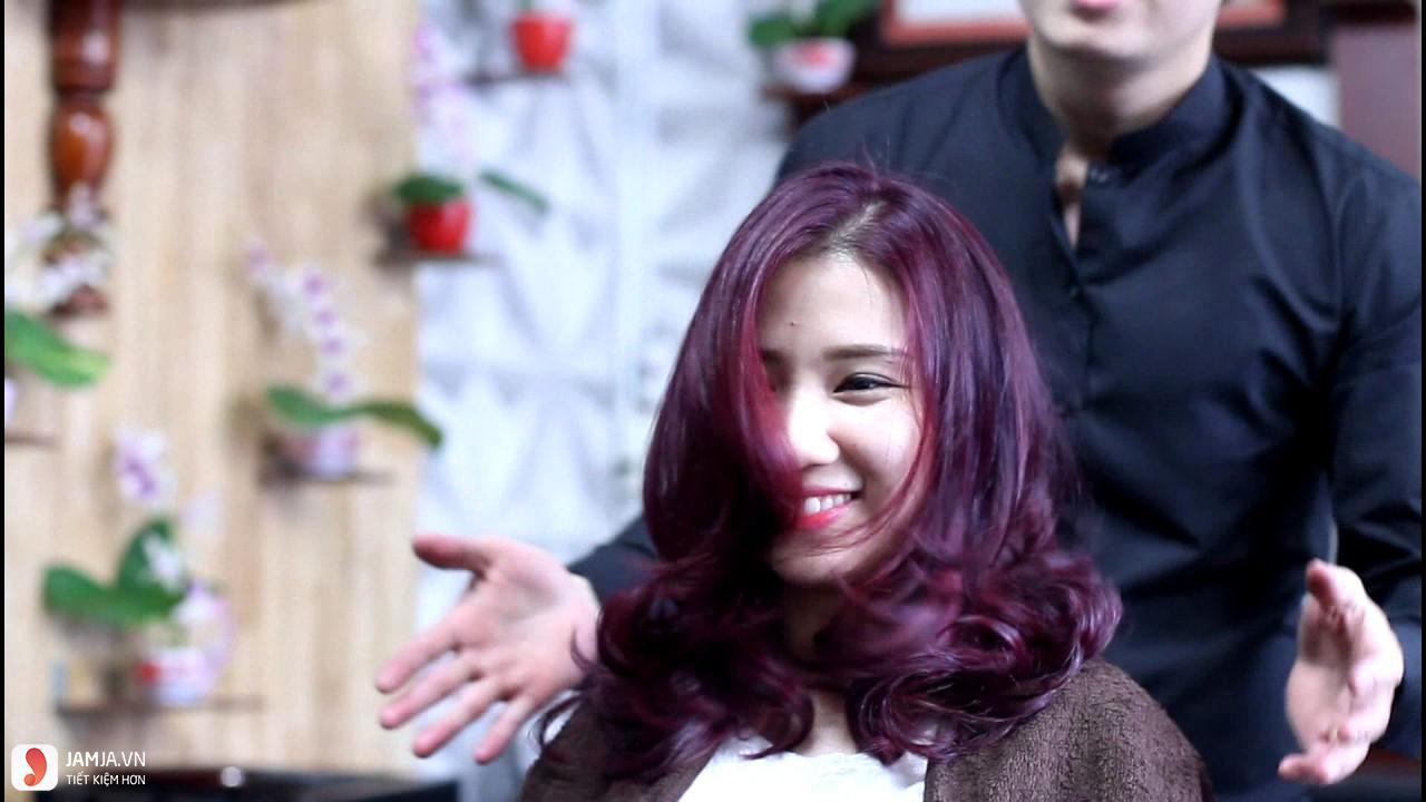 tóc màu tím đỏ 2