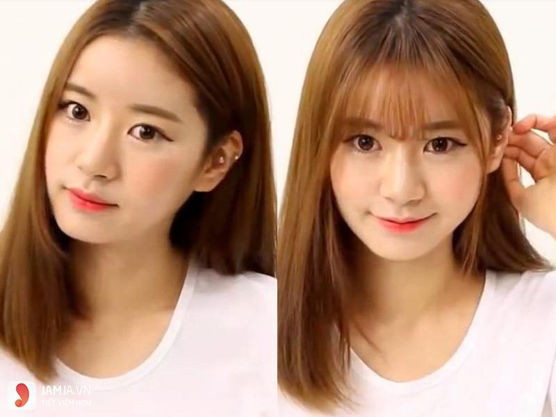 Tóc để mái cho tóc mỏng mặt dài -2
