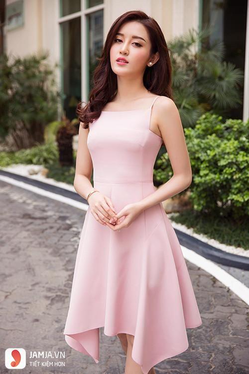 váy màu hồng phấn
