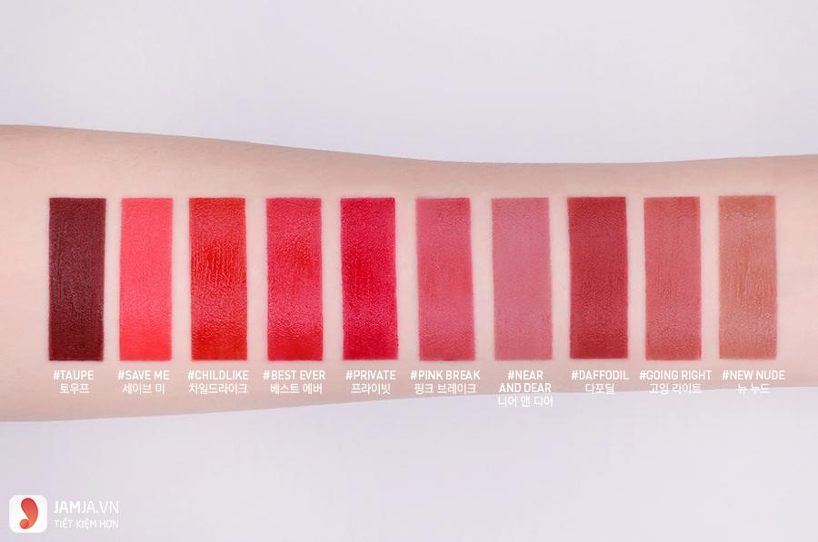 3CE Velvet Lip Tint Review 1