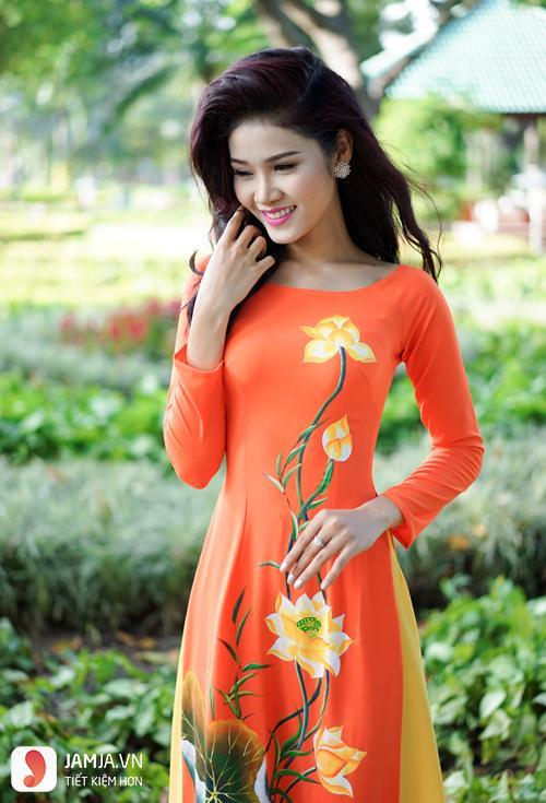áo dài màu cam cà rốt 3
