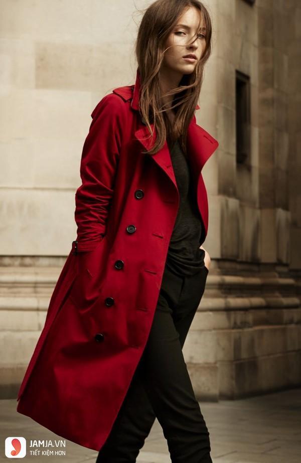 áo măng tô nữ burberry 2