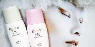 kem chống nắng biore UV màu hồng