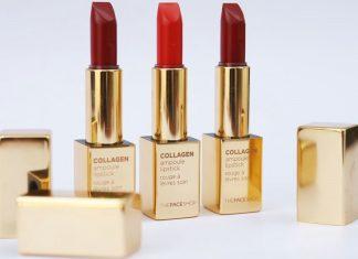 bảng màu son collagen The Face Shop 3