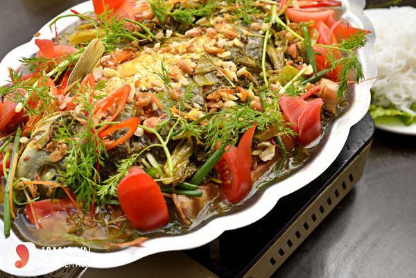 Cách nấu cá chép om dưa thịt ba chỉ 4