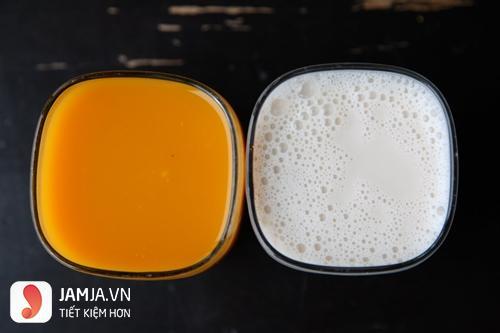 Tắm trắng bằng cam tươi và bia
