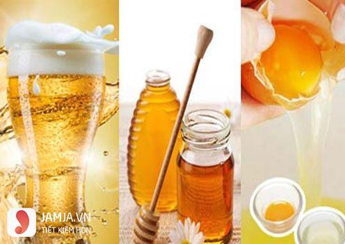 Tắm trắng bằng mật ong, trứng gà và bia