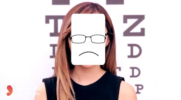 chọn kính cận phù hợp với khuôn mặt chữ nhật