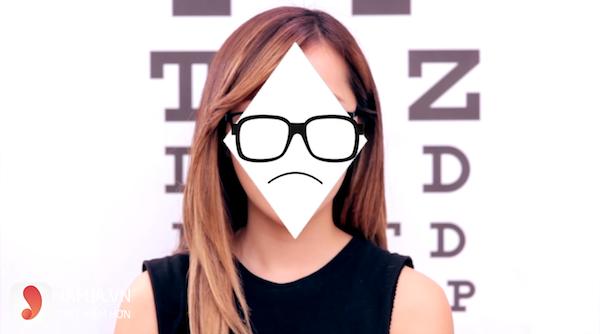 chọn kính cận phù hợp với khuôn mặt góc cạnh