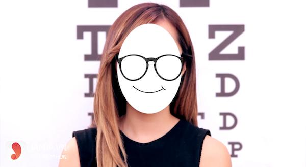 chọn kính cận phù hợp với khuôn mặt trái xoan