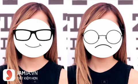 chọn kính cận phù hợp với khuôn mặt tròn