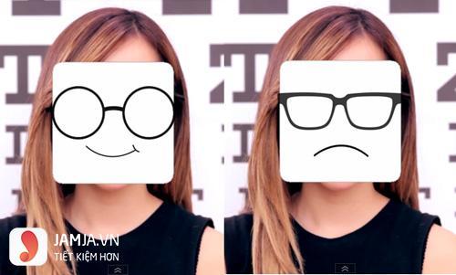 chọn kính cận phù hợp với khuôn mặt vuông 1