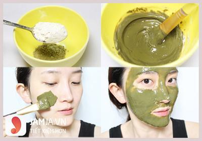 cách đắp mặt nạ trà xanh sữa chua 6