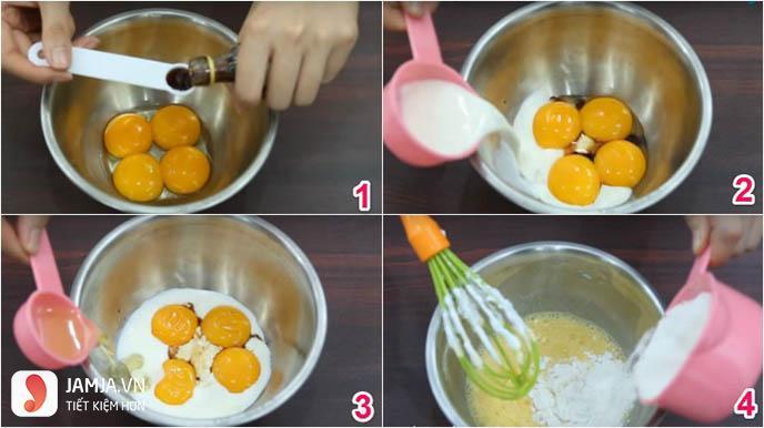 cách làm bánh bông lan bằng bột mì đa dụng 2