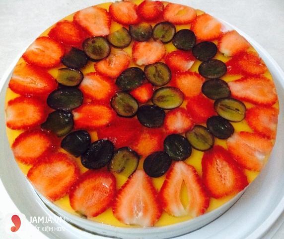 Cách làm bánh sinh nhật rau câu trái cây 5