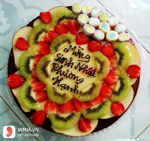 Cách làm bánh sinh nhật rau câu trái cây 6