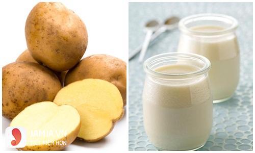 Cách làm mặt nạ khoai tây mật ong sữa chua 2