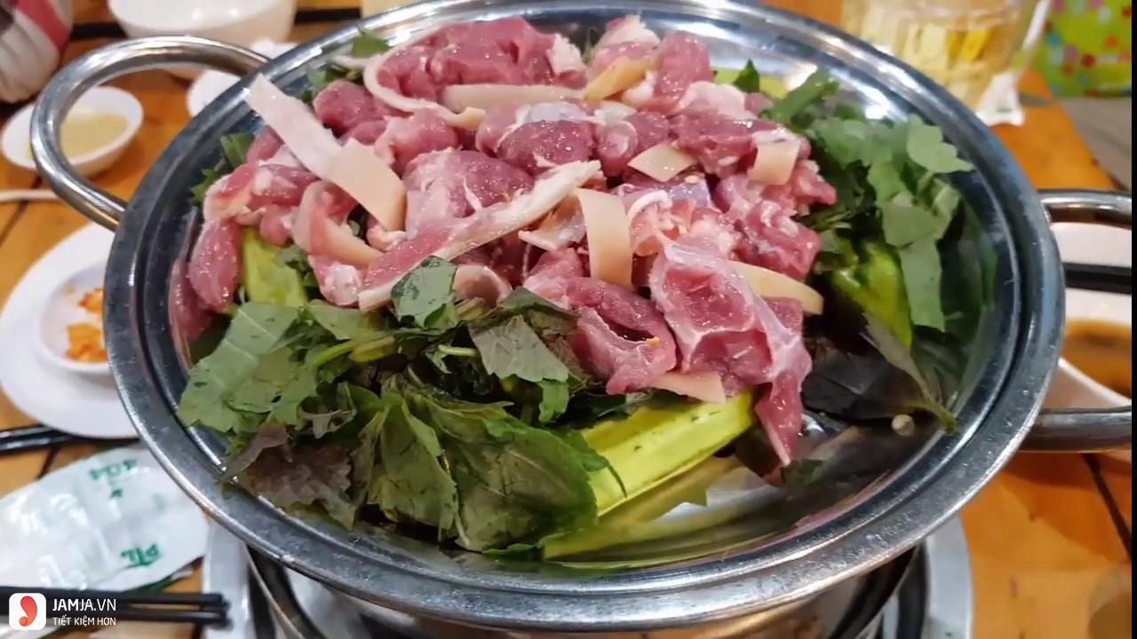 Cách làm thịt dê hấp tía tô 1