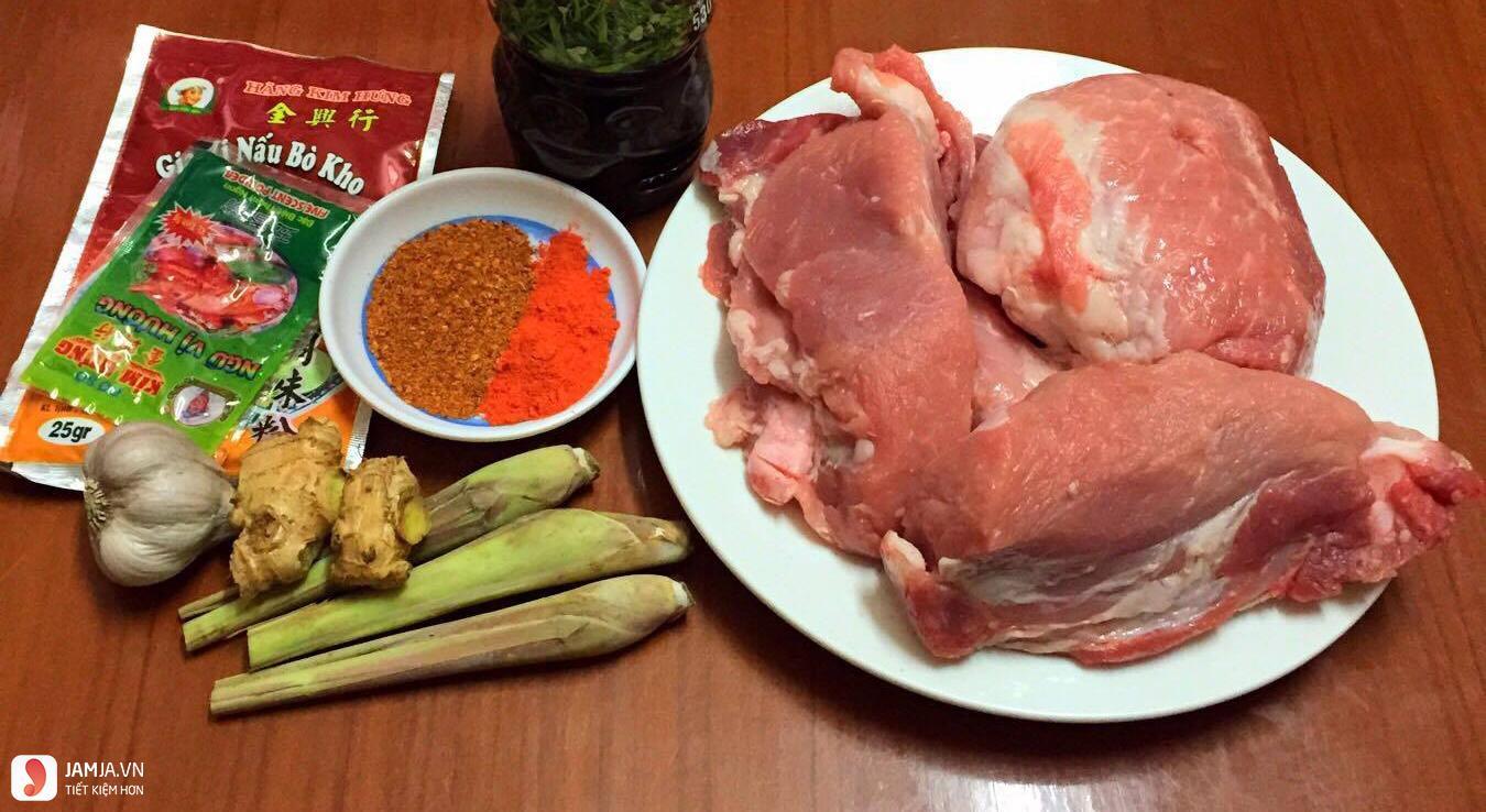 Cách làm thịt lợn giả bò khô kiểu Hàn 1