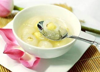 cách nấu chè hạt sen nước cốt dừa