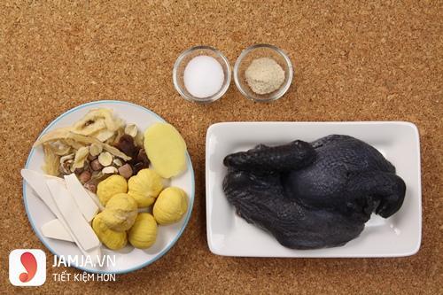 Cách nấu gà ác hầm thuốc bắc - 2