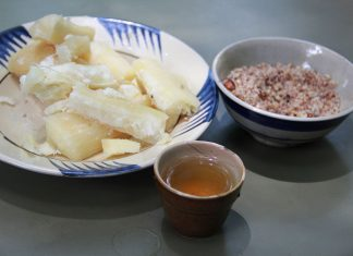 cách nấu khoai mì nước cốt dừa