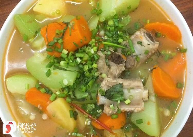 Cách nấu súp sườn heo 1