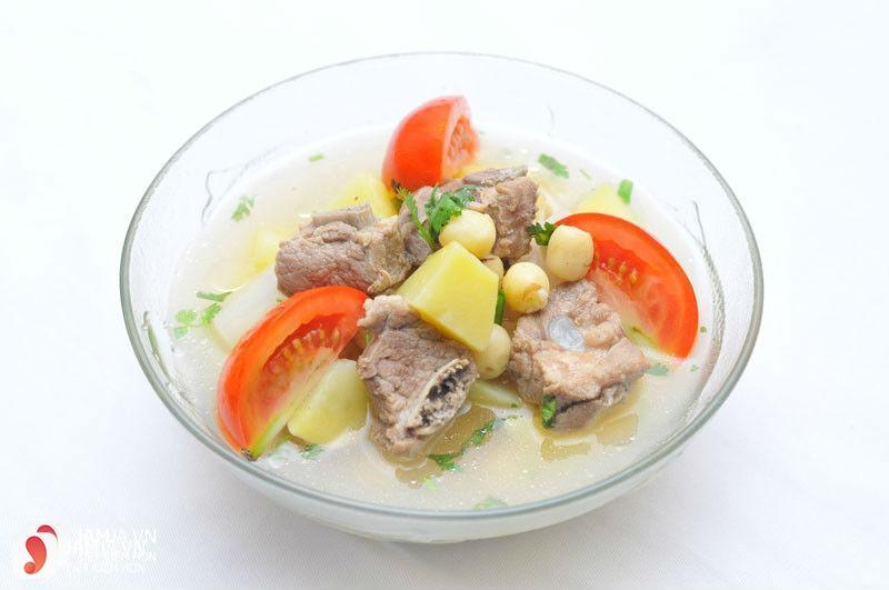 Cách nấu súp sườn heo