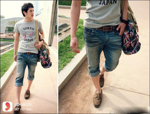 Cách phối áo thun với quần jean cho nam 1