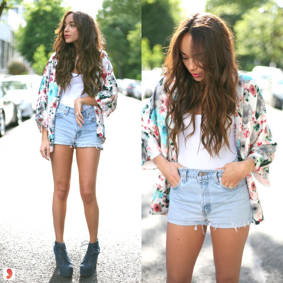 Cách phối áo thun với quần jean cho nữ 2