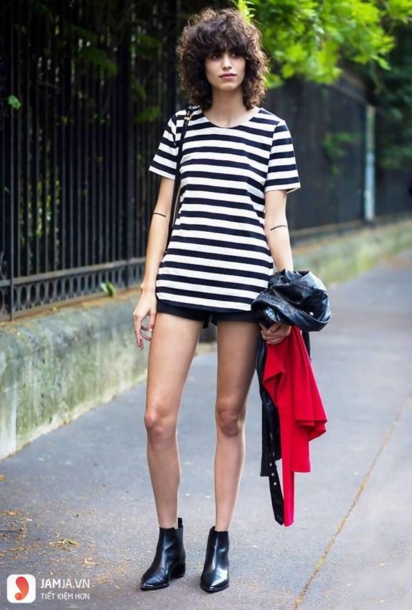 Boot cổ ngắn + quần short 2